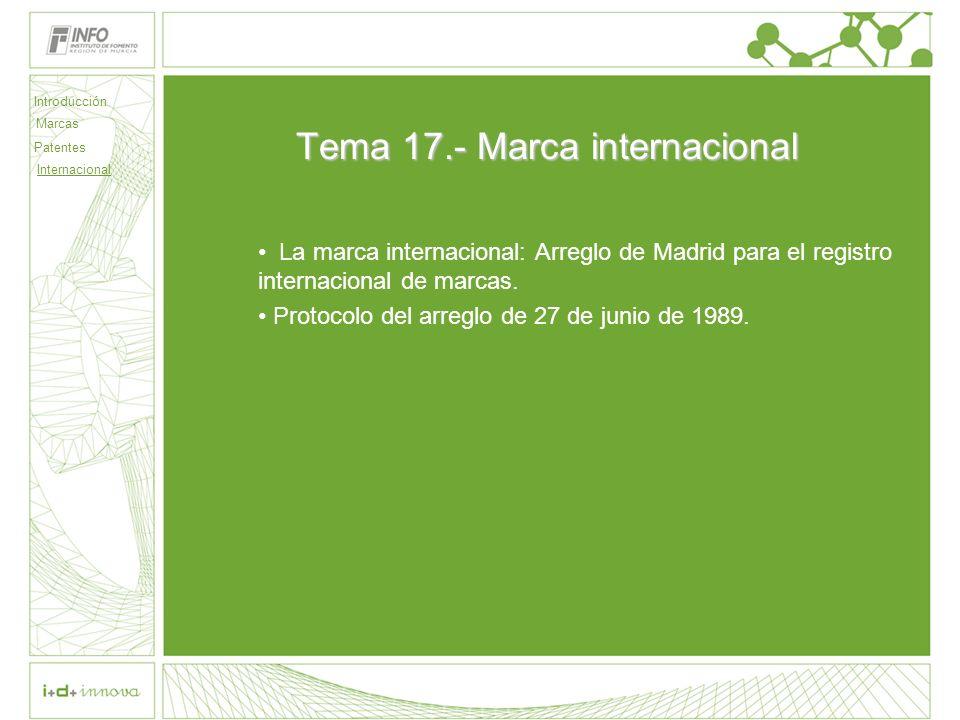 Tema 17.- Marca internacional