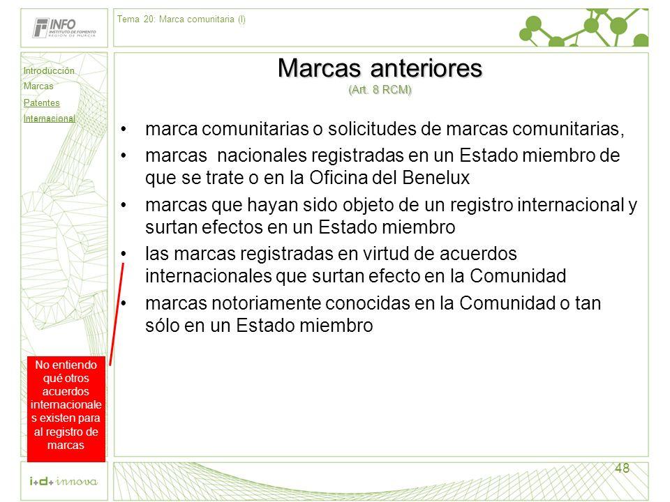 Marcas anteriores (Art. 8 RCM)