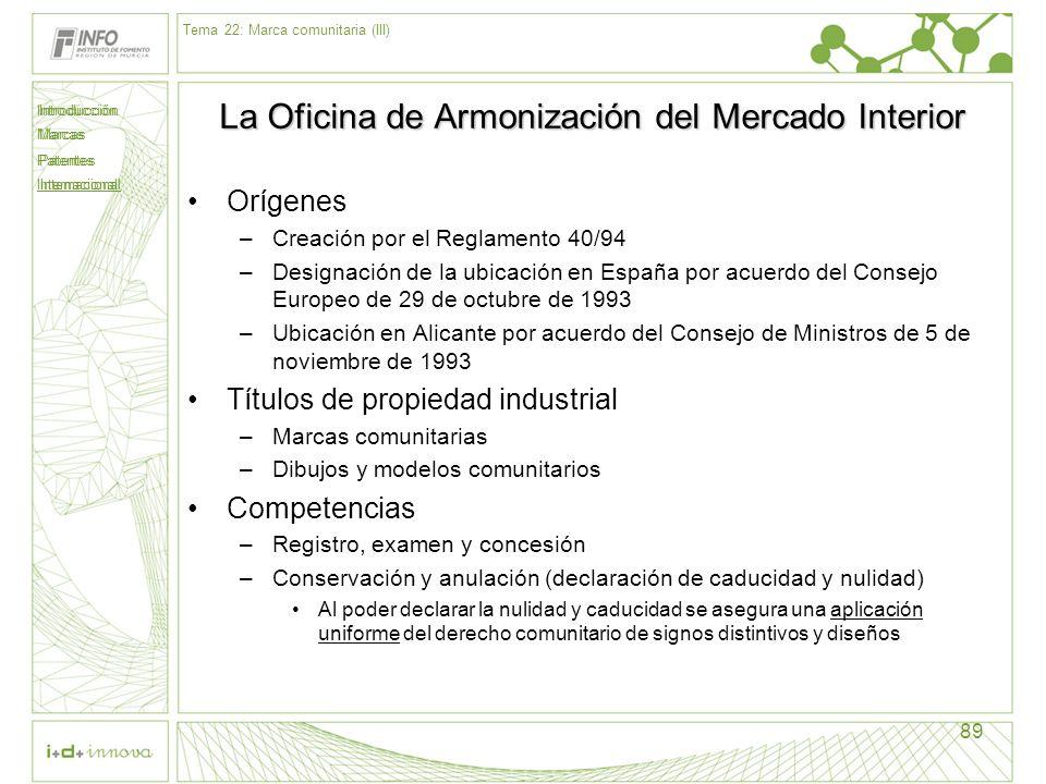 La Oficina de Armonización del Mercado Interior