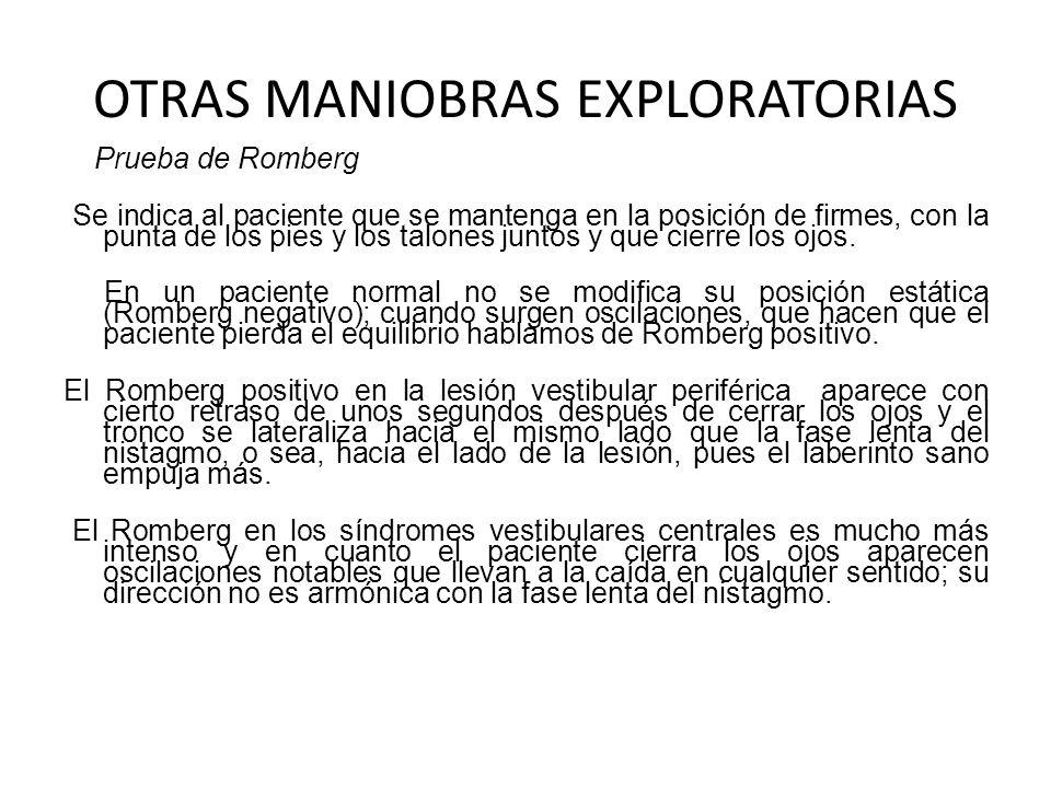 OTRAS MANIOBRAS EXPLORATORIAS