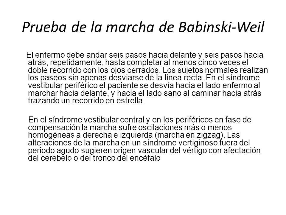 Prueba de la marcha de Babinski-Weil