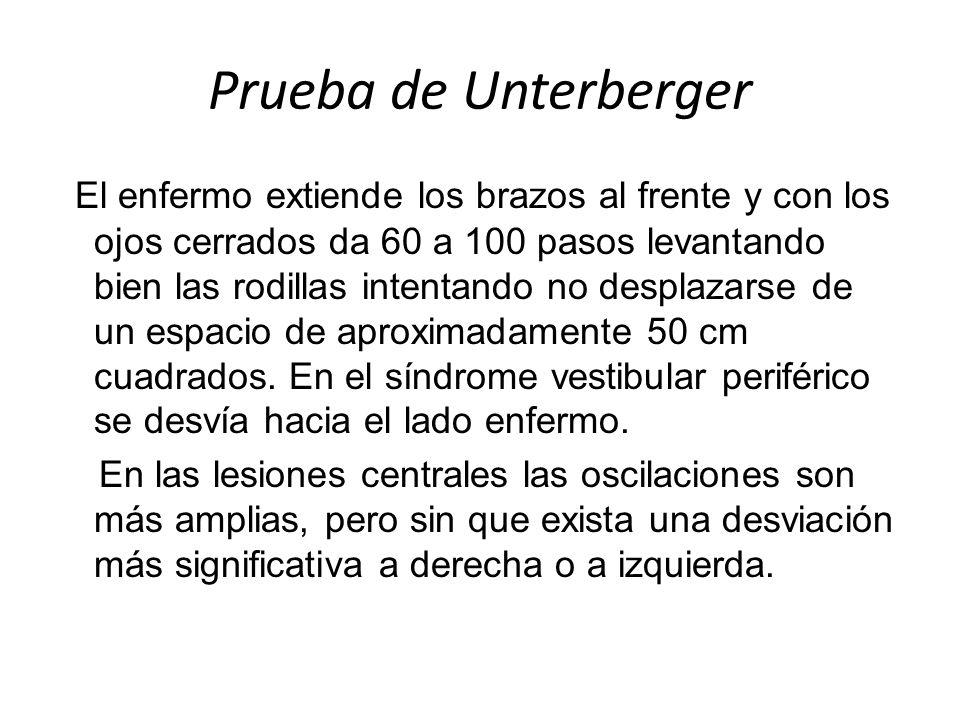 Prueba de Unterberger