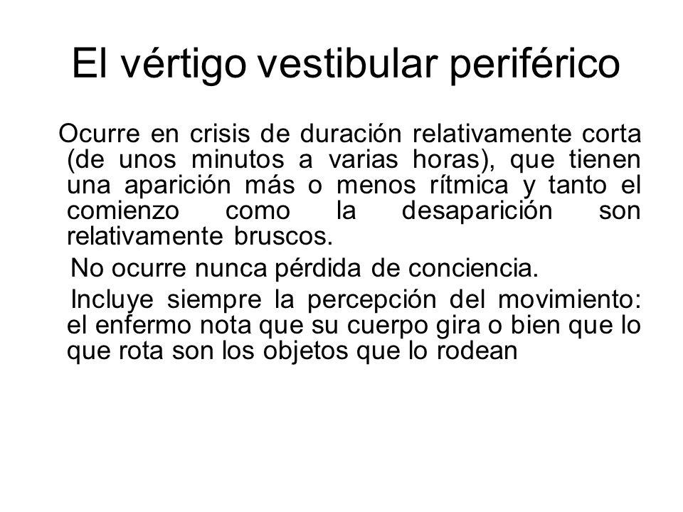 El vértigo vestibular periférico