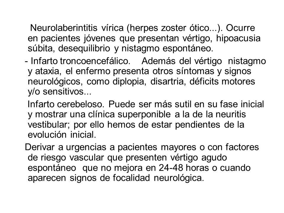 Neurolaberintitis vírica (herpes zoster ótico. )