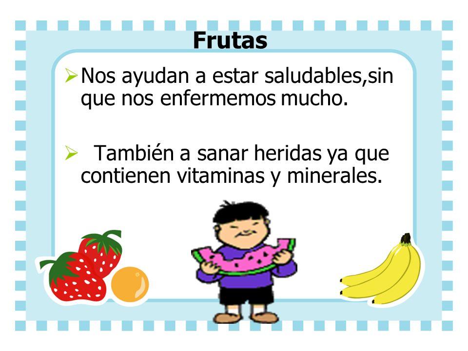 Frutas Nos ayudan a estar saludables,sin que nos enfermemos mucho.