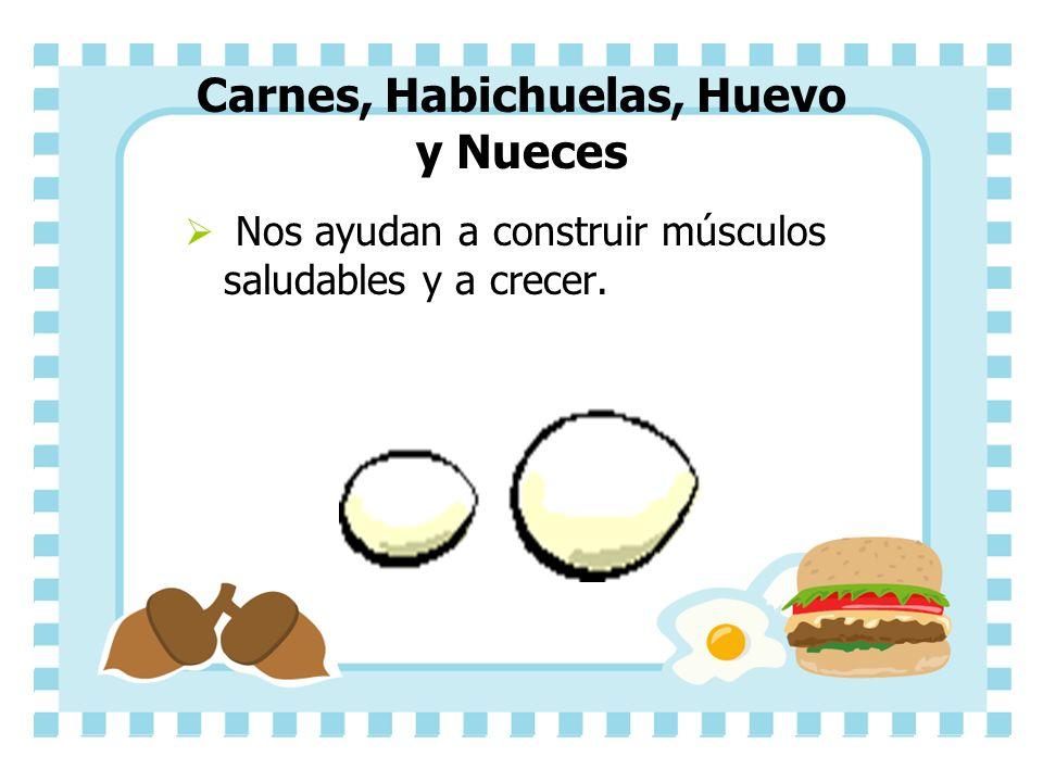Carnes, Habichuelas, Huevo y Nueces