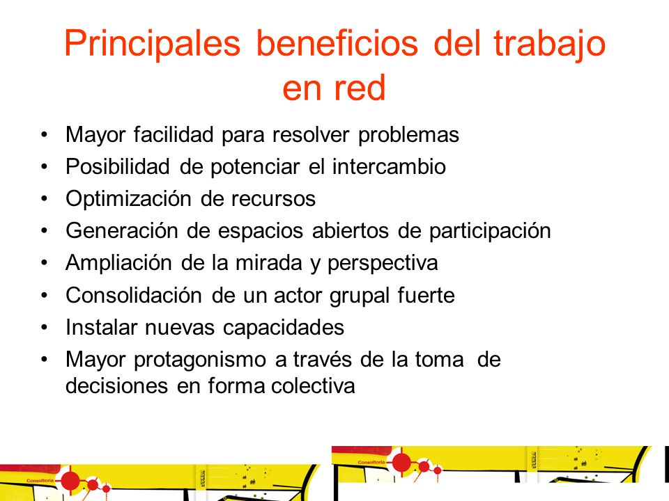 Principales beneficios del trabajo en red