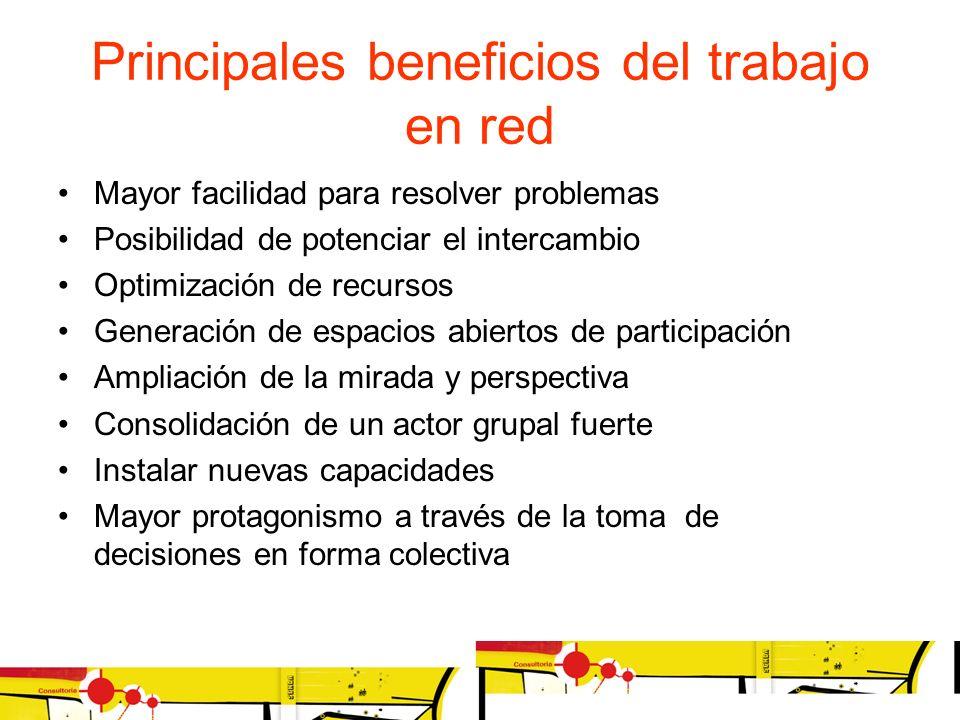 Principales beneficios del trabajo en red