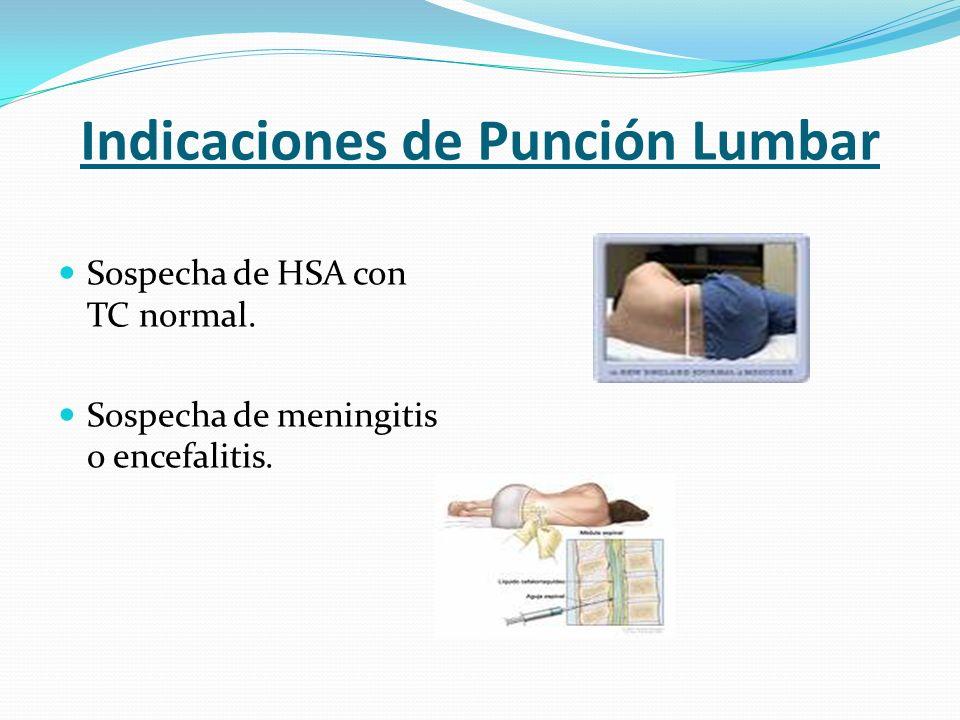 Indicaciones de Punción Lumbar