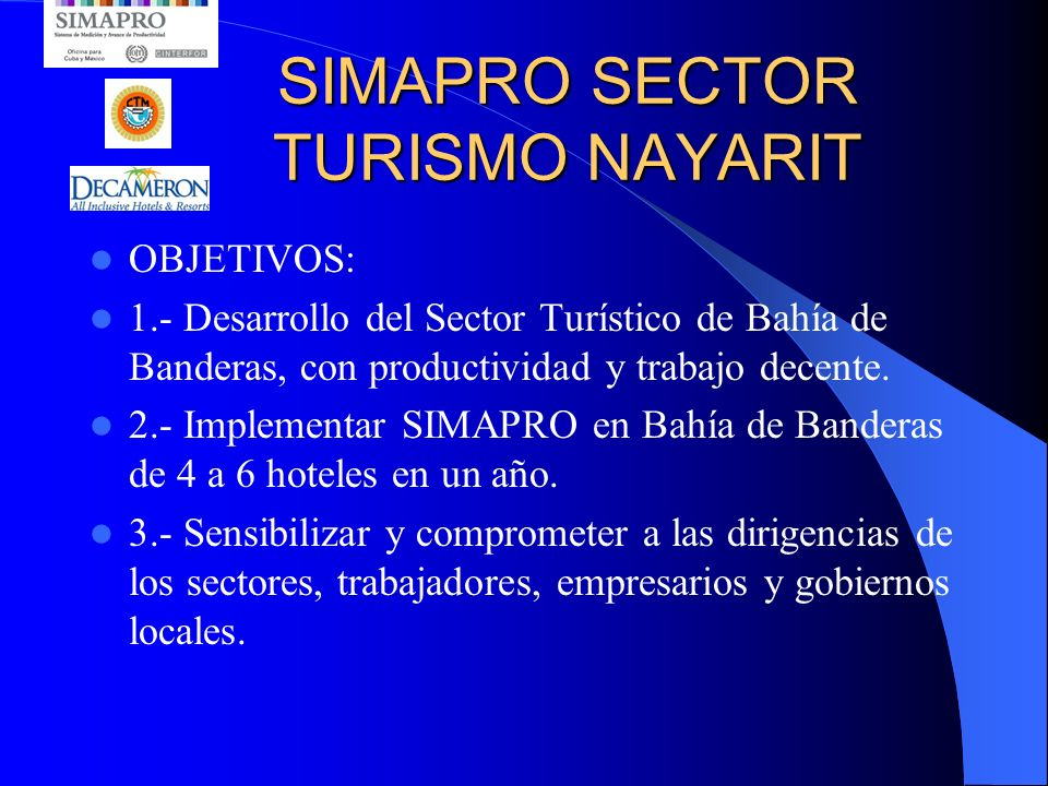 SIMAPRO SECTOR TURISMO NAYARIT