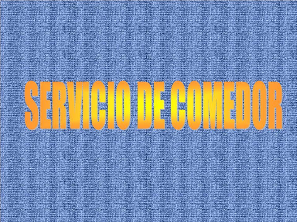 SERVICIO DE COMEDOR