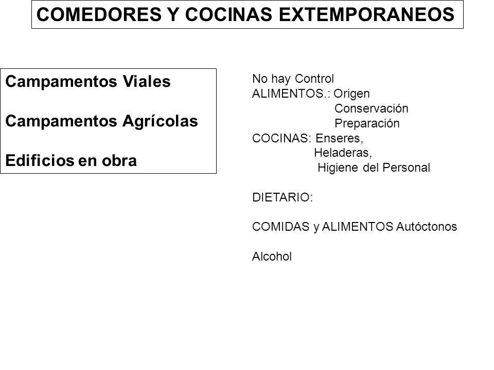 COMEDORES Y COCINAS EXTEMPORANEOS