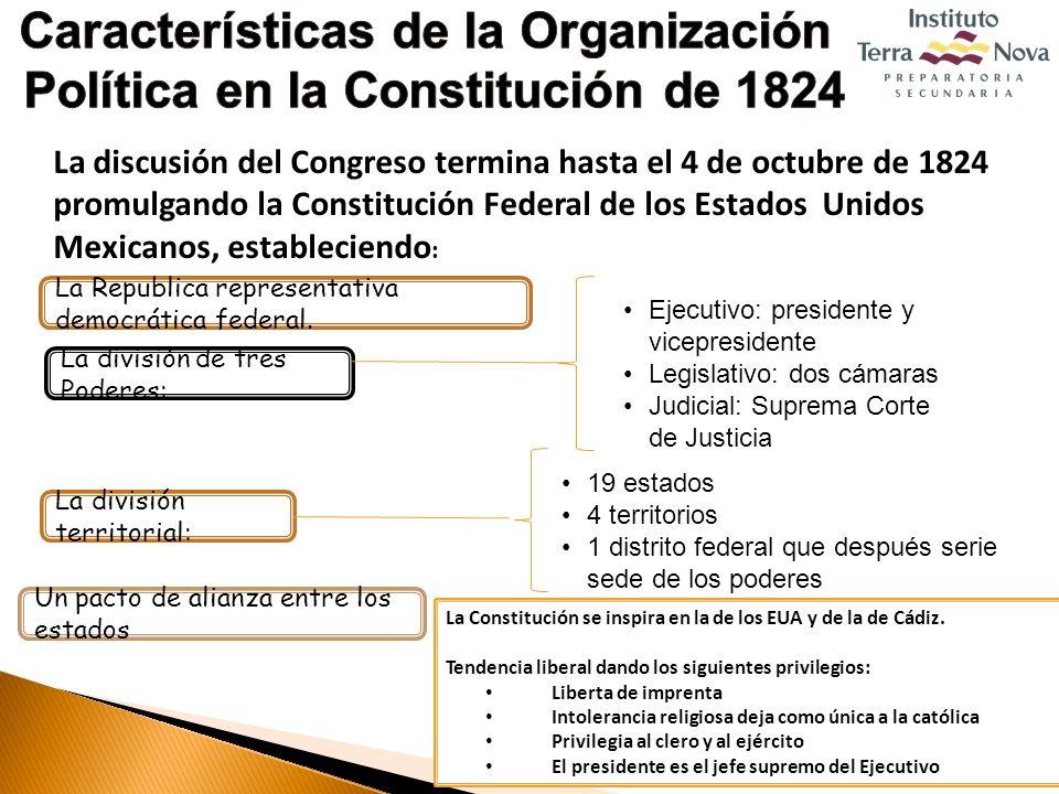 Características de la Organización Política en la Constitución de 1824