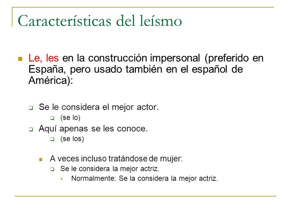 Características del leísmo