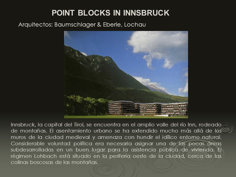 POINT BLOCKS IN INNSBRUCK