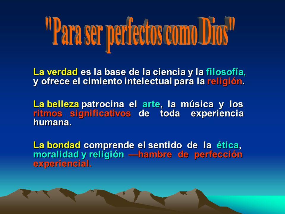 Para ser perfectos como Dios