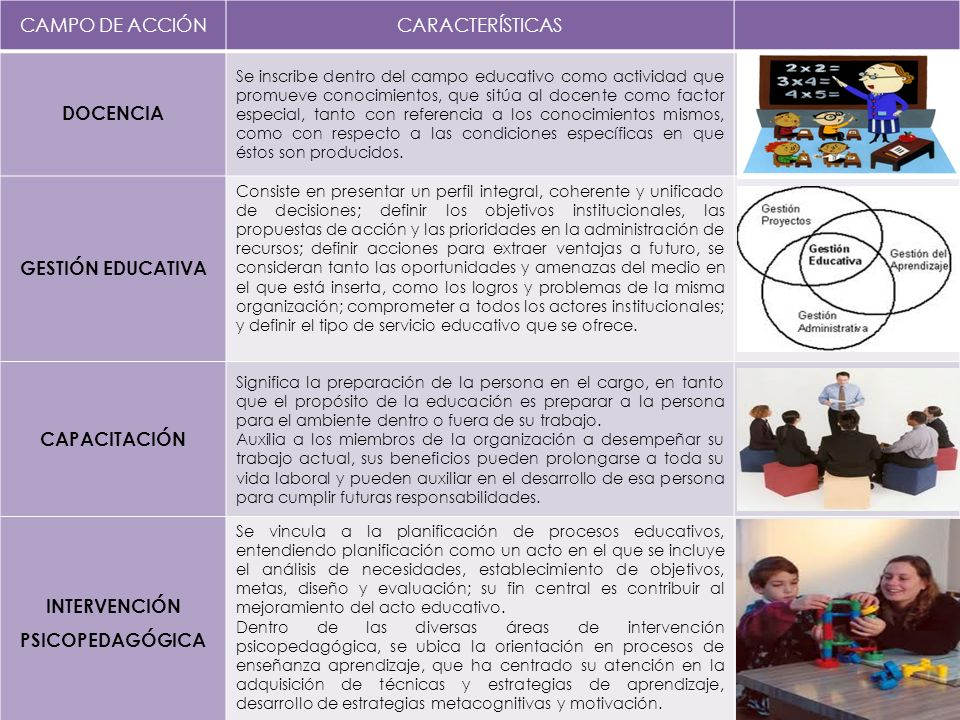 Campos de acci n de la pedagog a ppt video online descargar for La accion educativa en el exterior