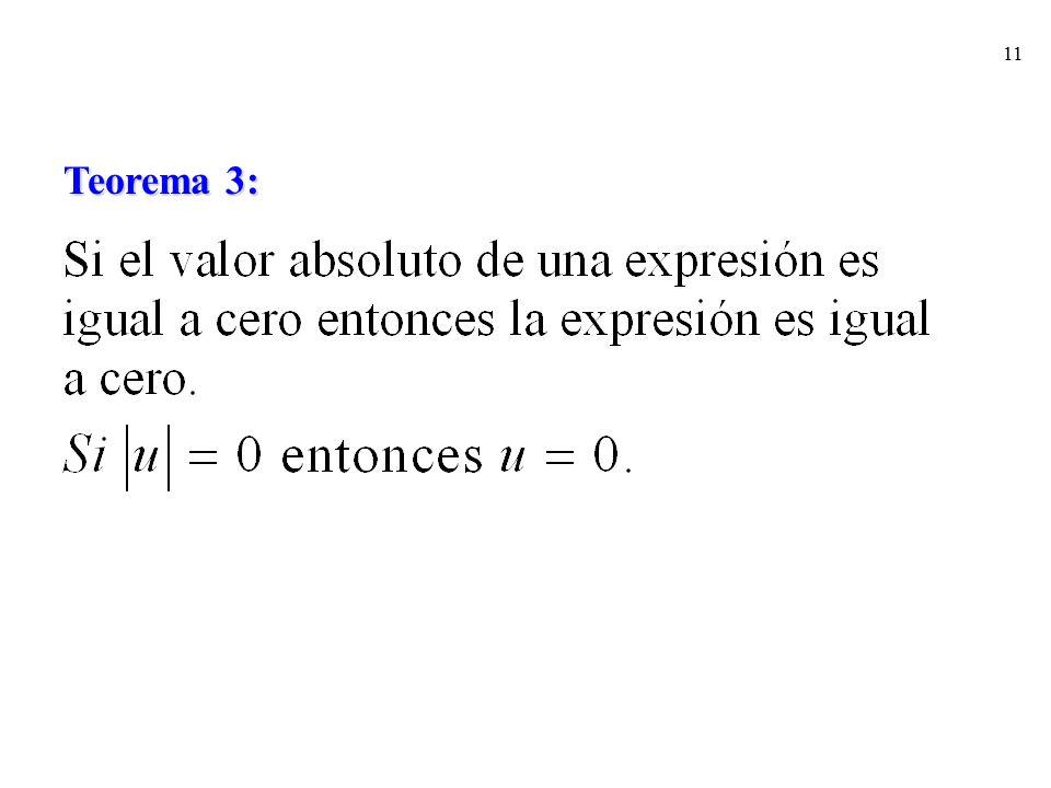 Teorema 3: