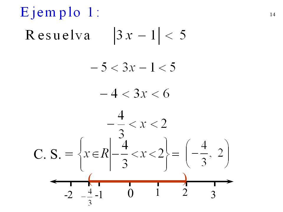 C. S. = ( ) 1 2 -2 -1 3