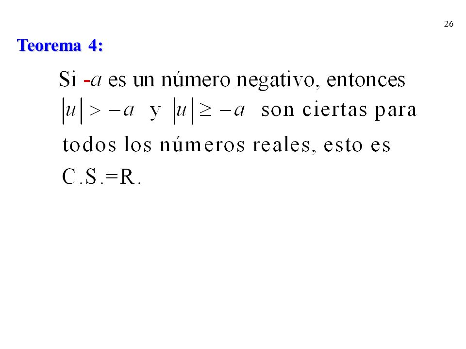 Teorema 4: