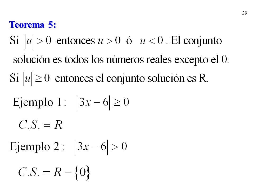 Teorema 5: