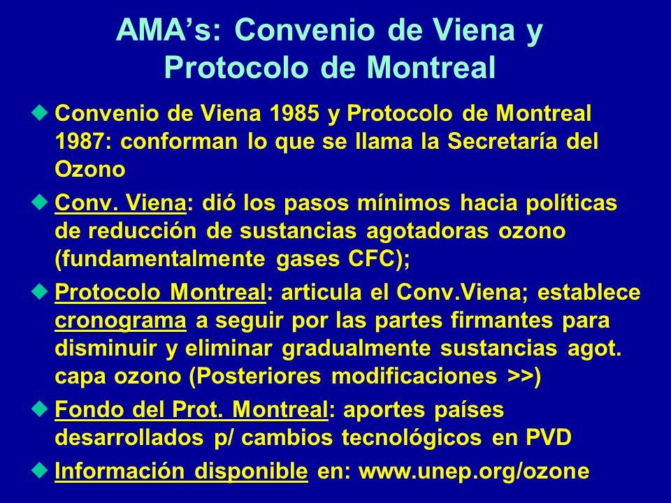 AMA's: Convenio de Viena y Protocolo de Montreal