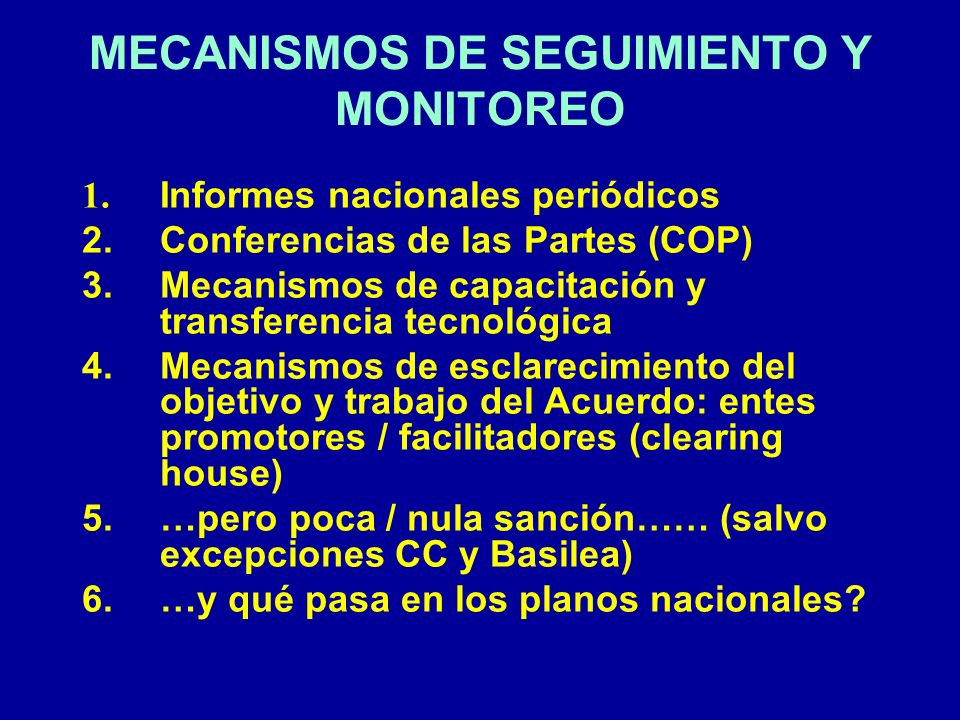 MECANISMOS DE SEGUIMIENTO Y MONITOREO