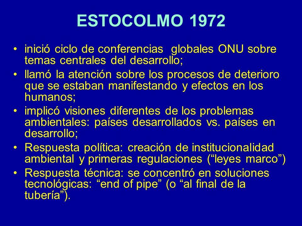 ESTOCOLMO 1972 inició ciclo de conferencias globales ONU sobre temas centrales del desarrollo;