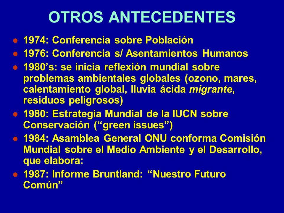 OTROS ANTECEDENTES 1974: Conferencia sobre Población