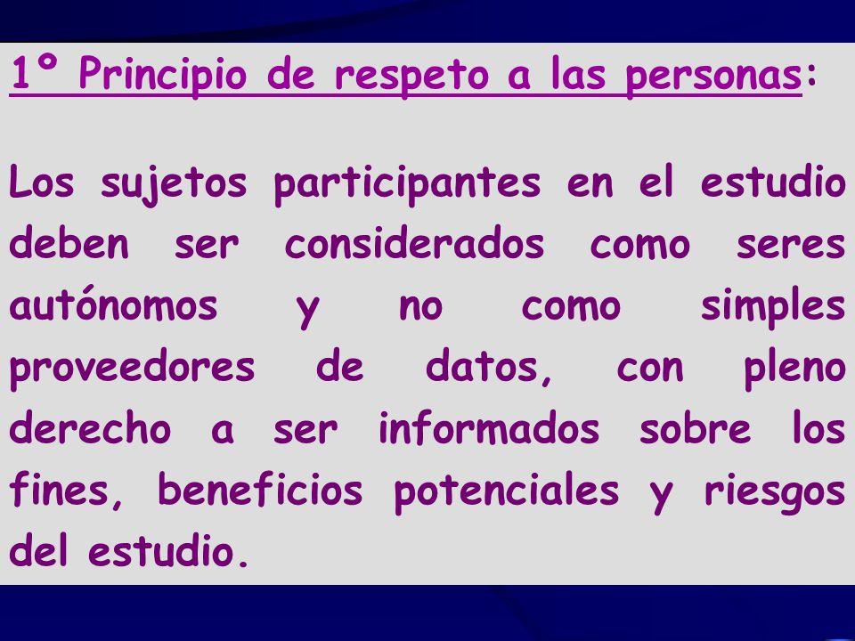 1º Principio de respeto a las personas: