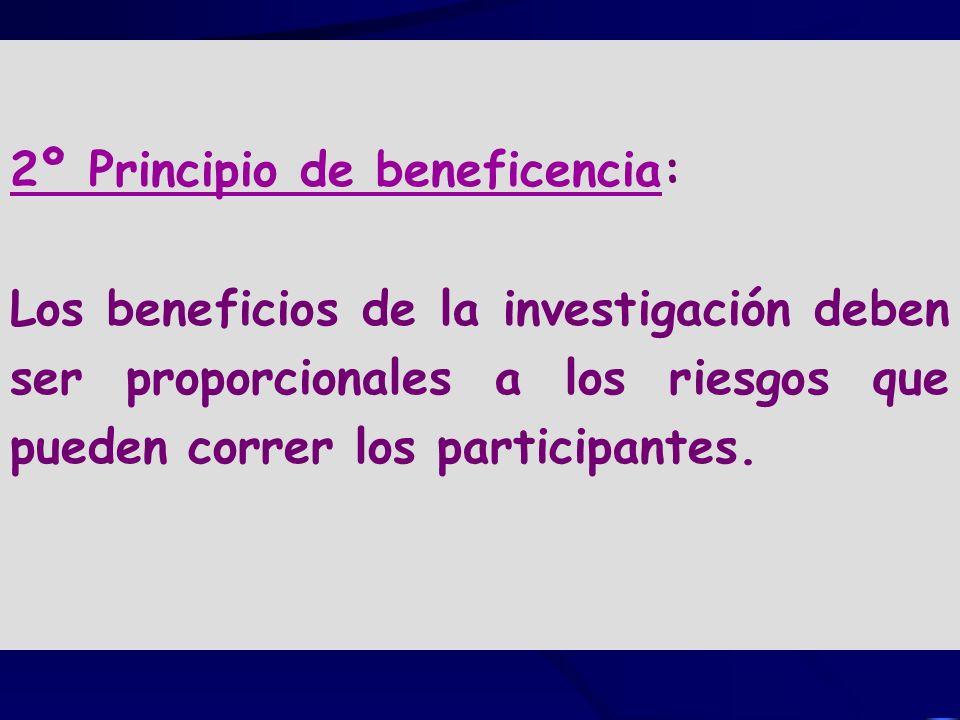 2º Principio de beneficencia: