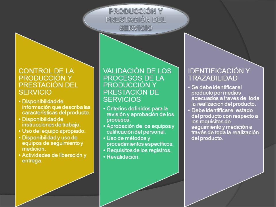 PRODUCCIÓN Y PRESTACIÓN DEL SERVICIO