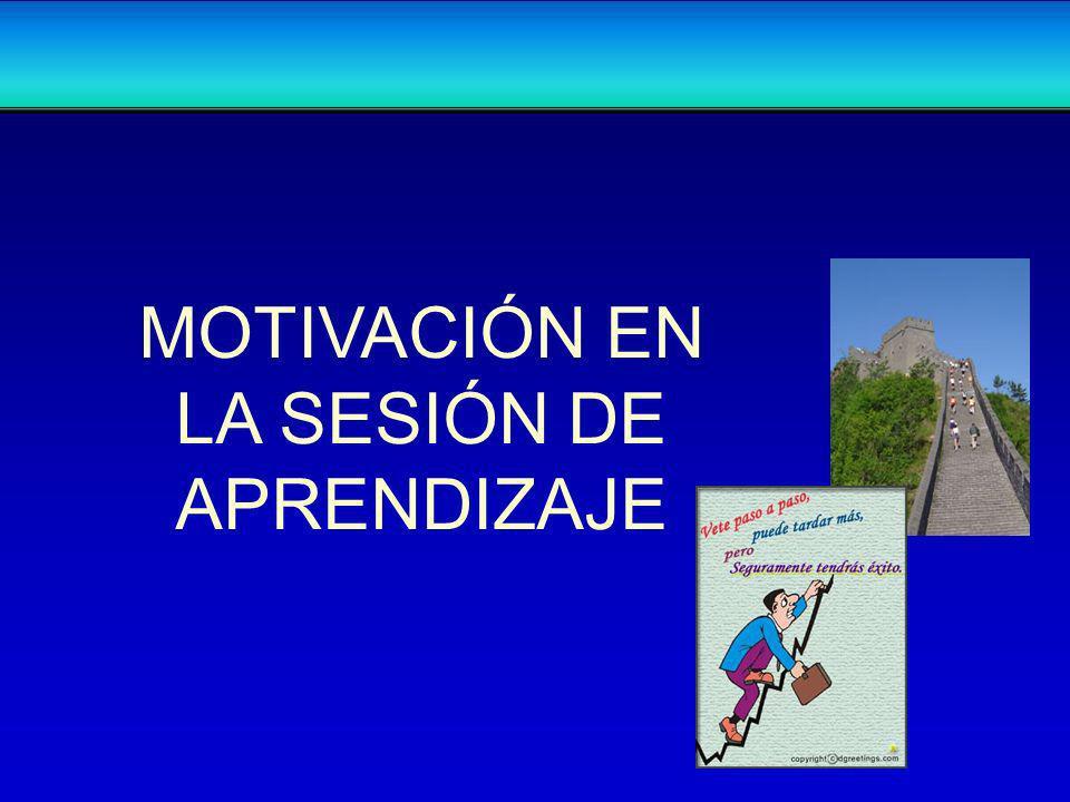 MOTIVACIÓN EN LA SESIÓN DE APRENDIZAJE