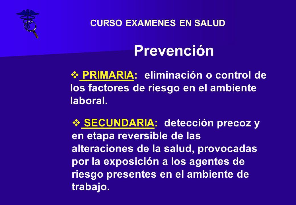 CURSO EXAMENES EN SALUD