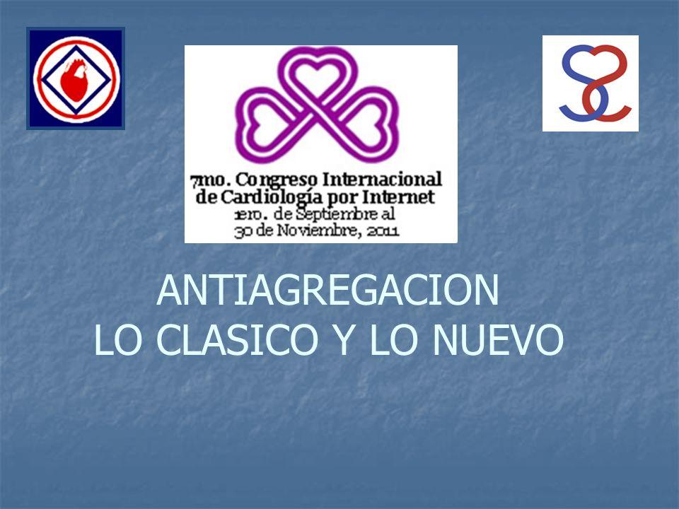 ANTIAGREGACION LO CLASICO Y LO NUEVO