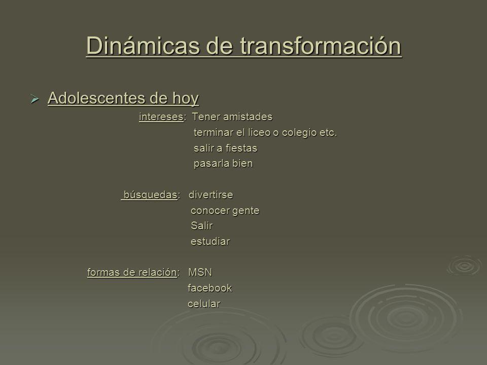 Dinámicas de transformación