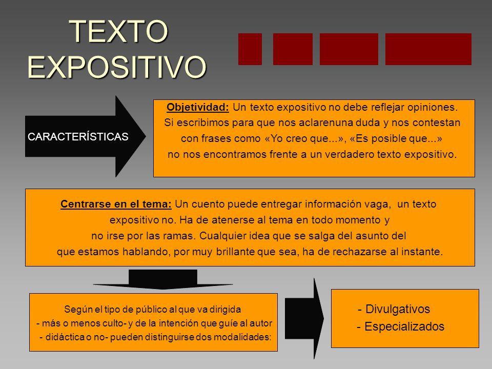 TEXTO EXPOSITIVO - Especializados