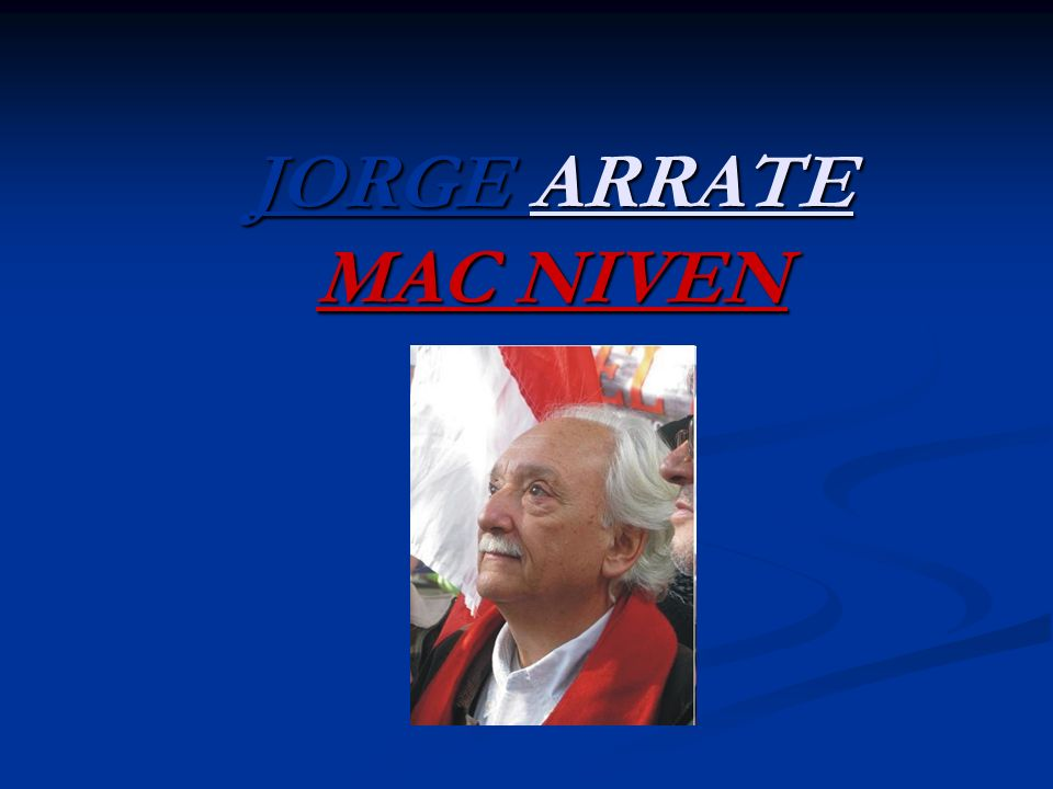 JORGE ARRATE MAC NIVEN