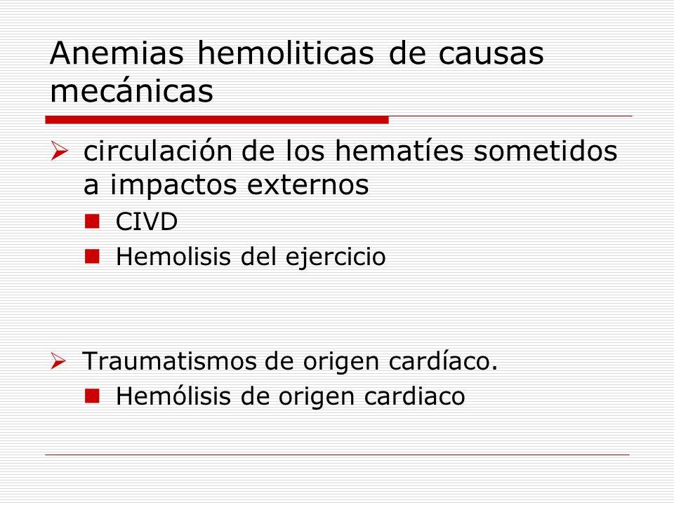 Anemias hemoliticas de causas mecánicas