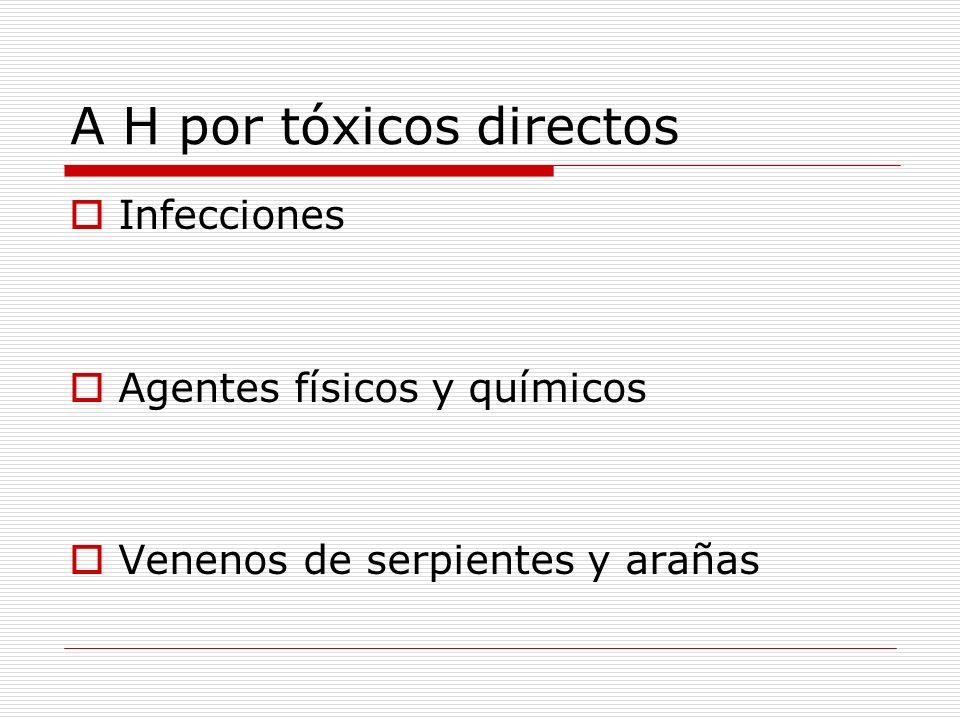 A H por tóxicos directos