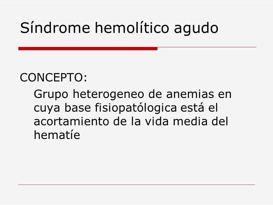 Síndrome hemolítico agudo