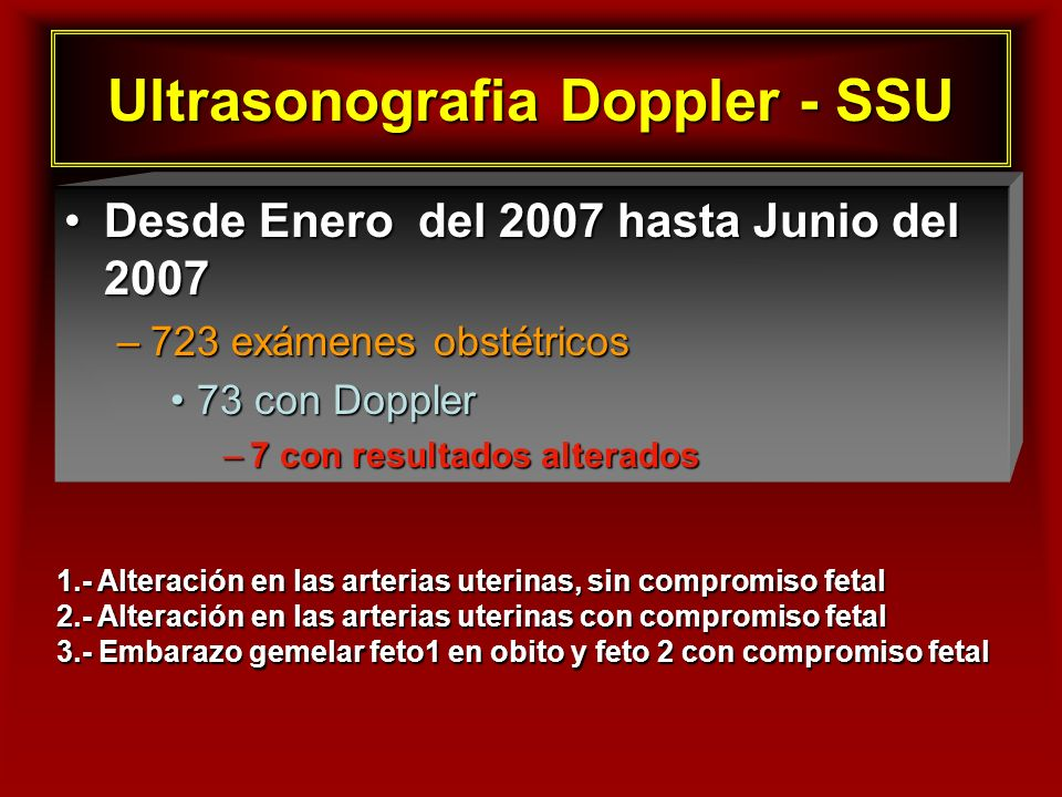Ultrasonografia Doppler - SSU