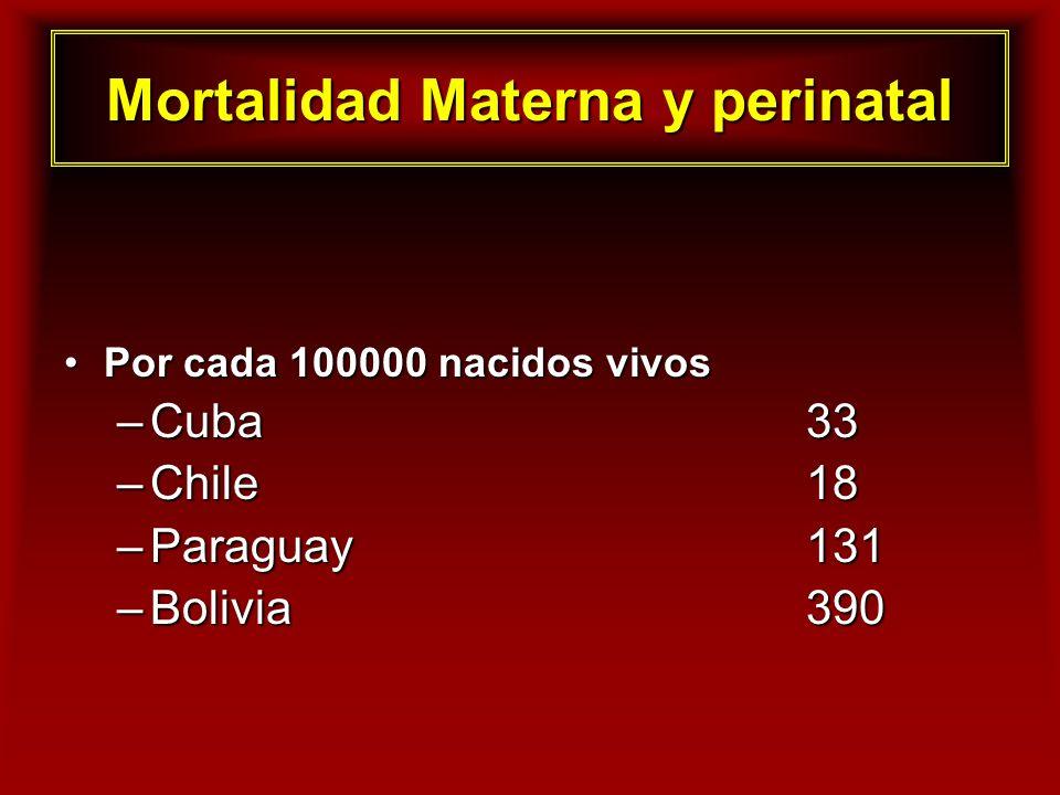 Mortalidad Materna y perinatal