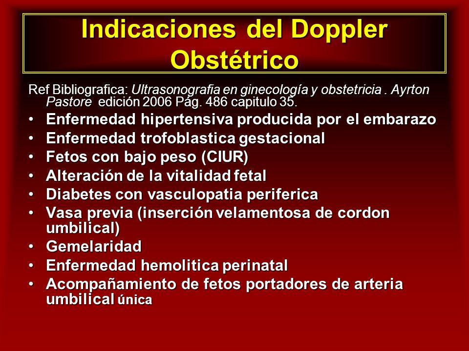 Indicaciones del Doppler Obstétrico