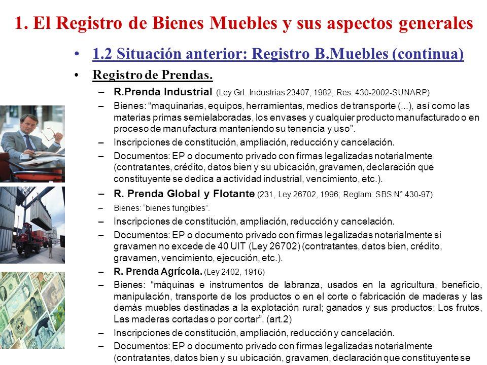 1. El Registro de Bienes Muebles y sus aspectos generales - ppt descargar
