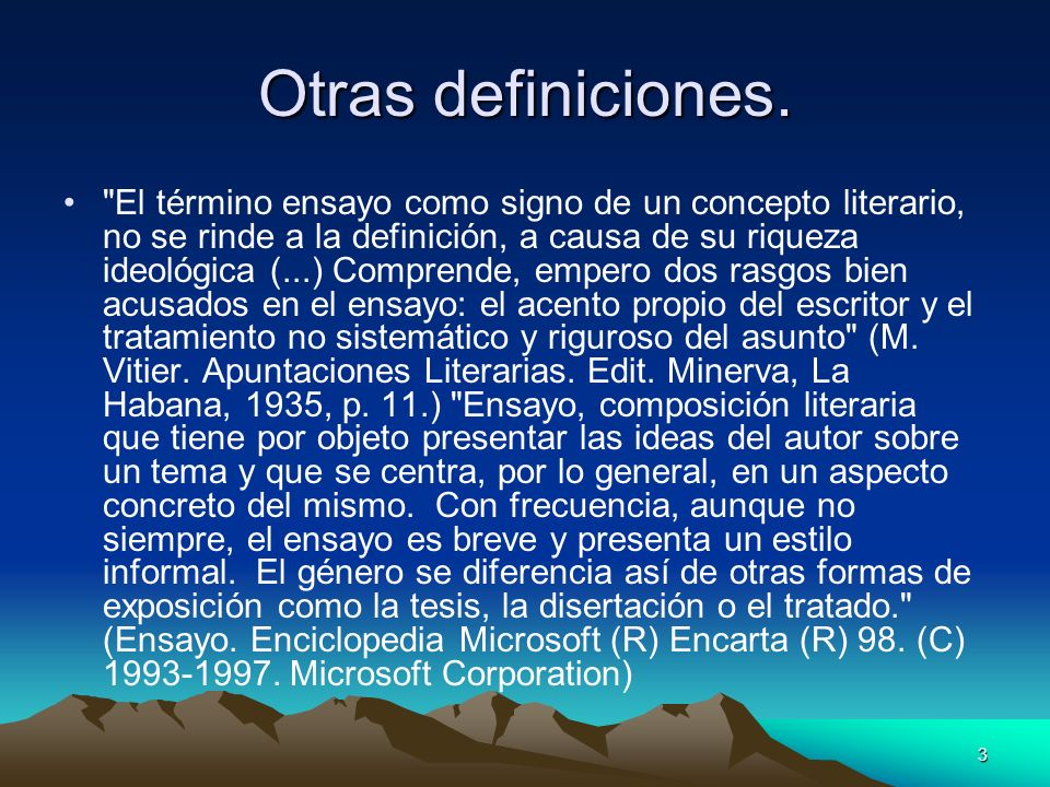Otras definiciones.