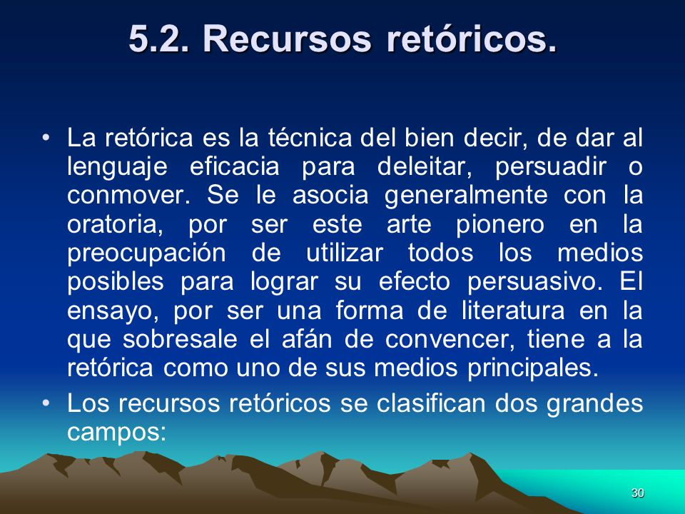 5.2. Recursos retóricos.