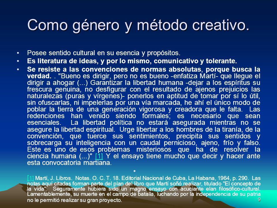Como género y método creativo.