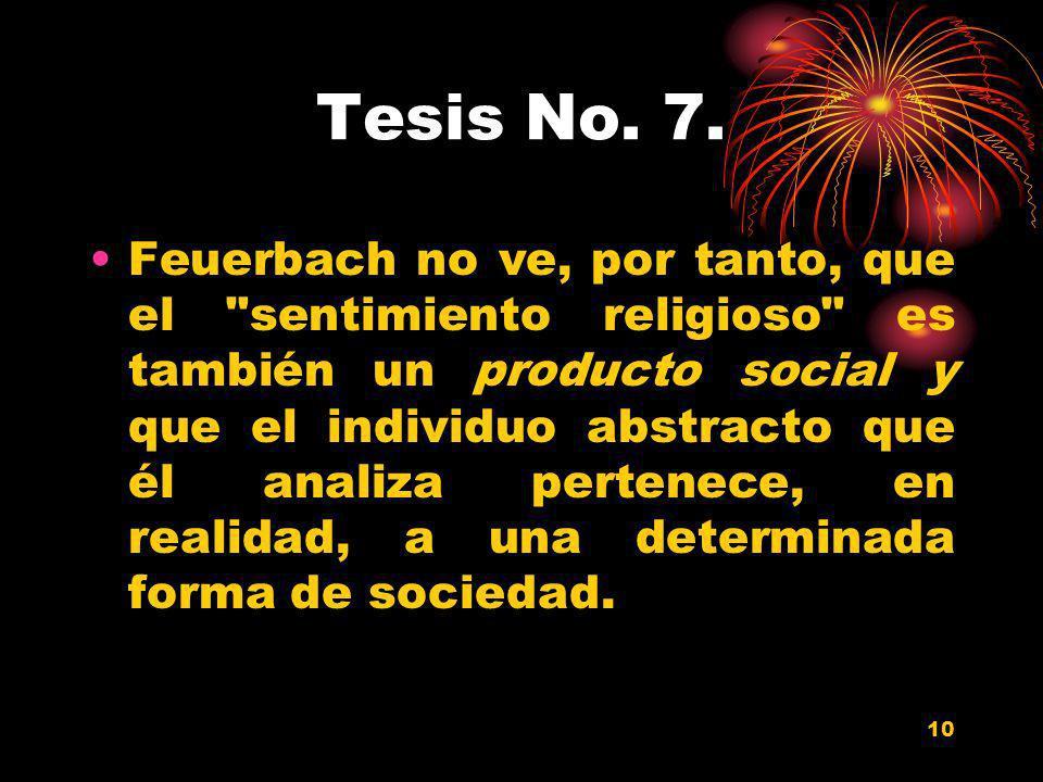 Tesis No. 7.