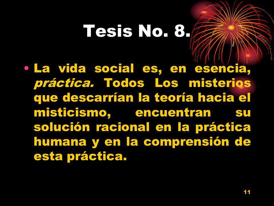Tesis No. 8.